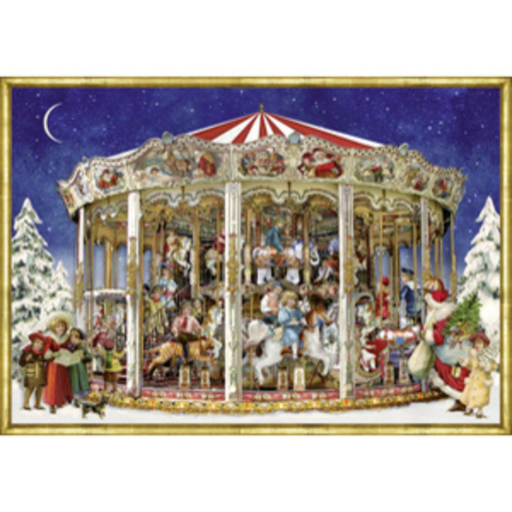 Coppenrath A4 Wandkalender: Nostalgiesches Weihnachtskarussell