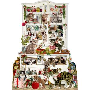 Coppenrath A3 Wandkalender: Katzen im Advent