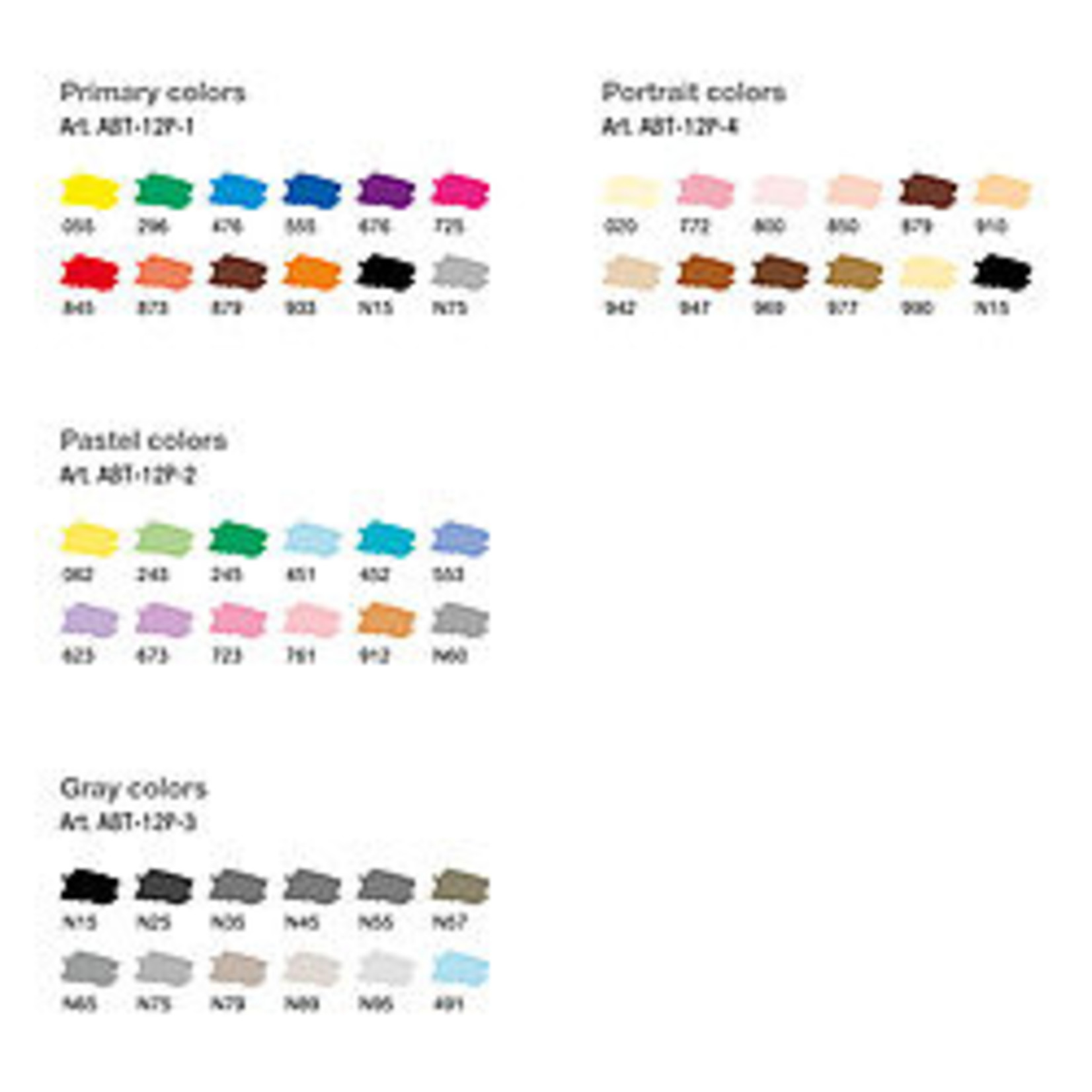 Tombow ABT PRO 12er-Set Basic Colors