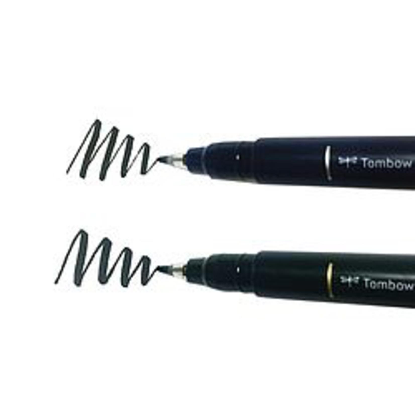 Tombow Fudenosuke Pen weiche Spitze schwarz