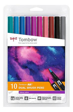 Tombow Dual Brush Pen Galaxy Colors, 10 Stück