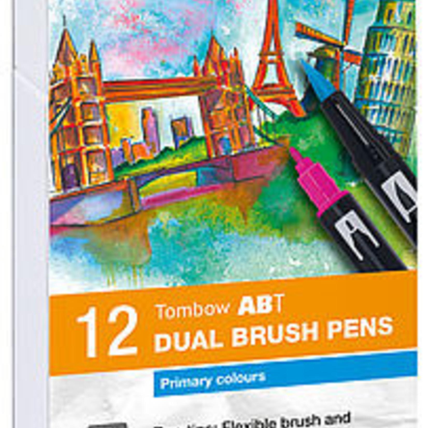 Tombow Dual Brush Pen 12er-Set Primärfarben