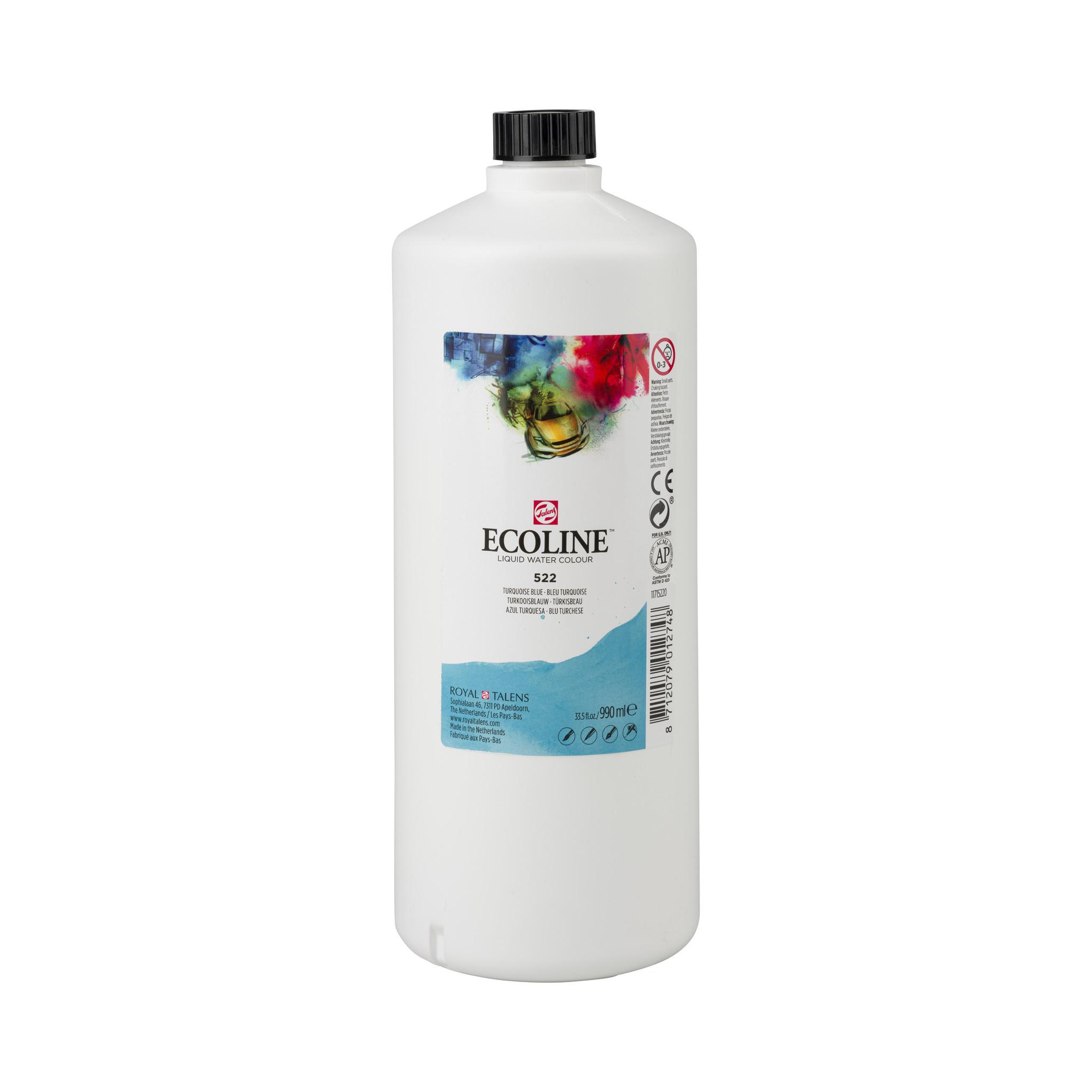 Ecoline Ecoline Flüssige Wasserfarbe 990 ml Türkisblau