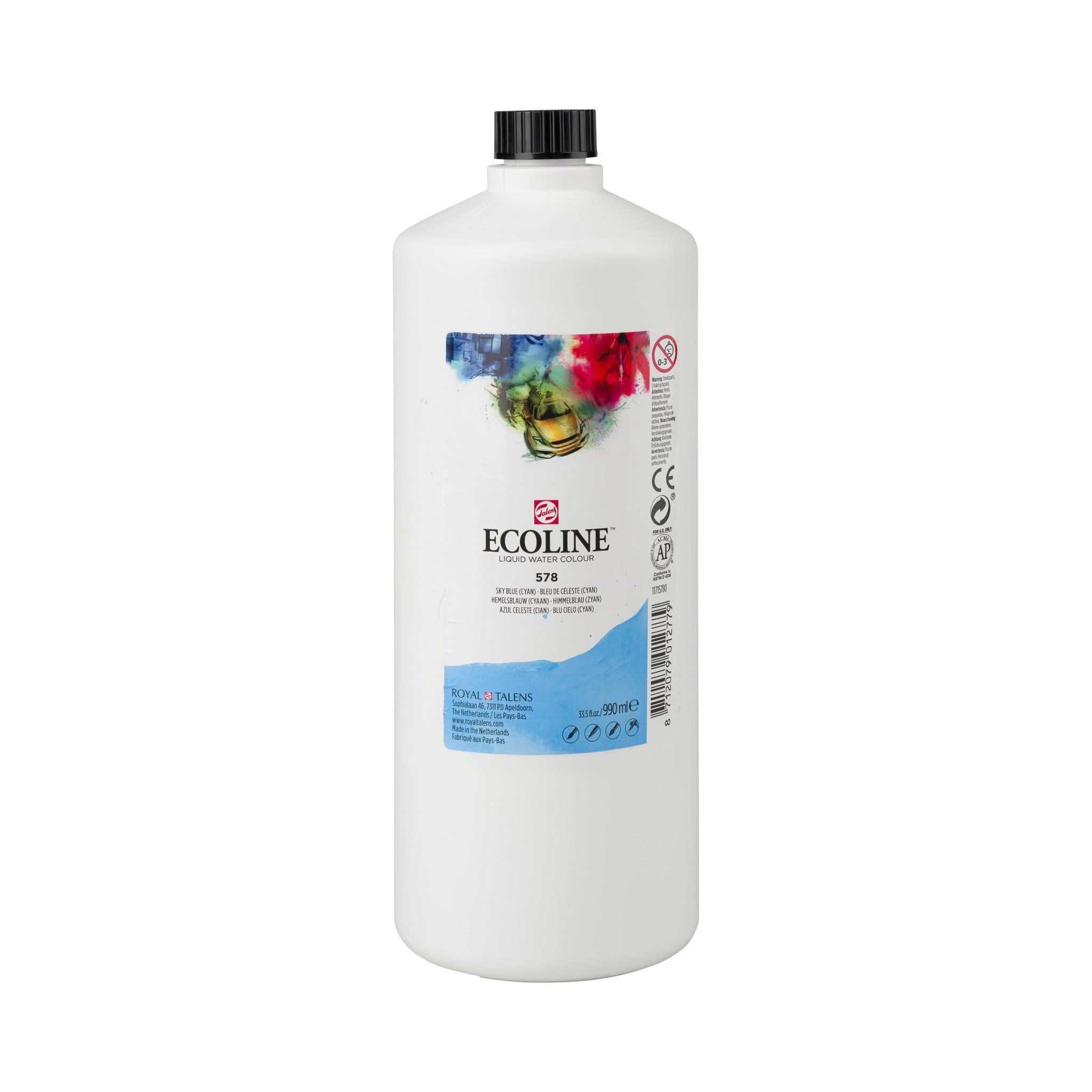 Ecoline Ecoline Flüssige Wasserfarbe 990 ml Himmelblau (Zyan)