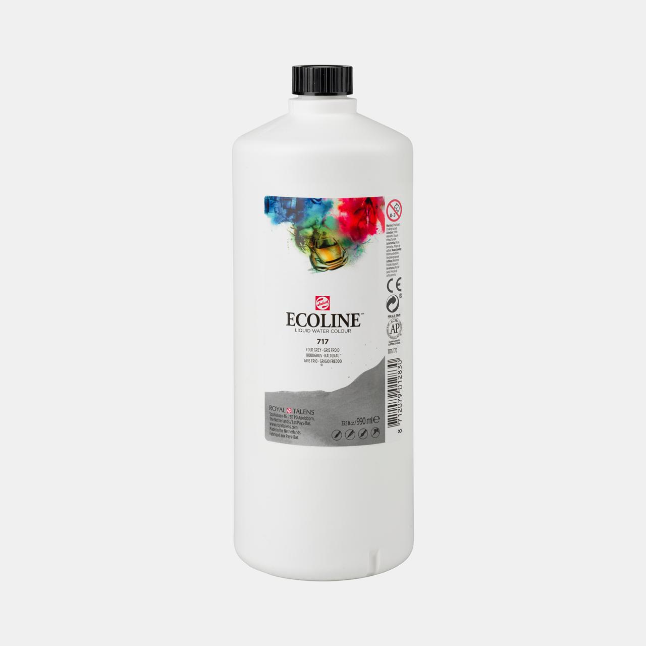 Ecoline Ecoline Flüssige Wasserfarbe 990 ml Kaltgrau