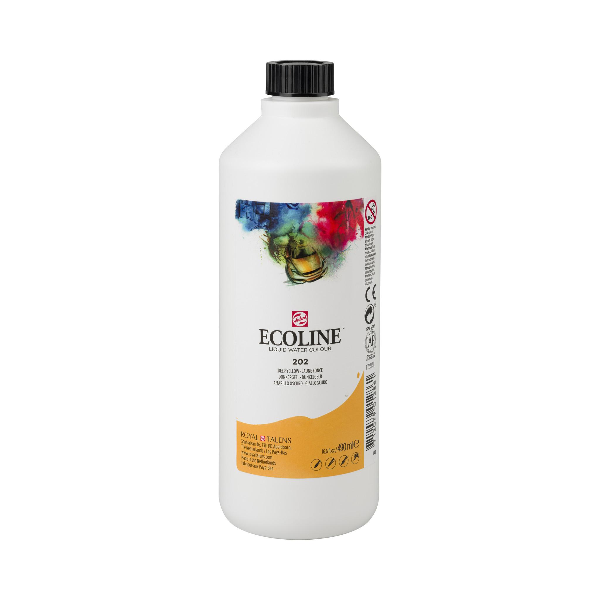 Ecoline Ecoline Flüssige Wasserfarbe 490 ml dunkelgelb