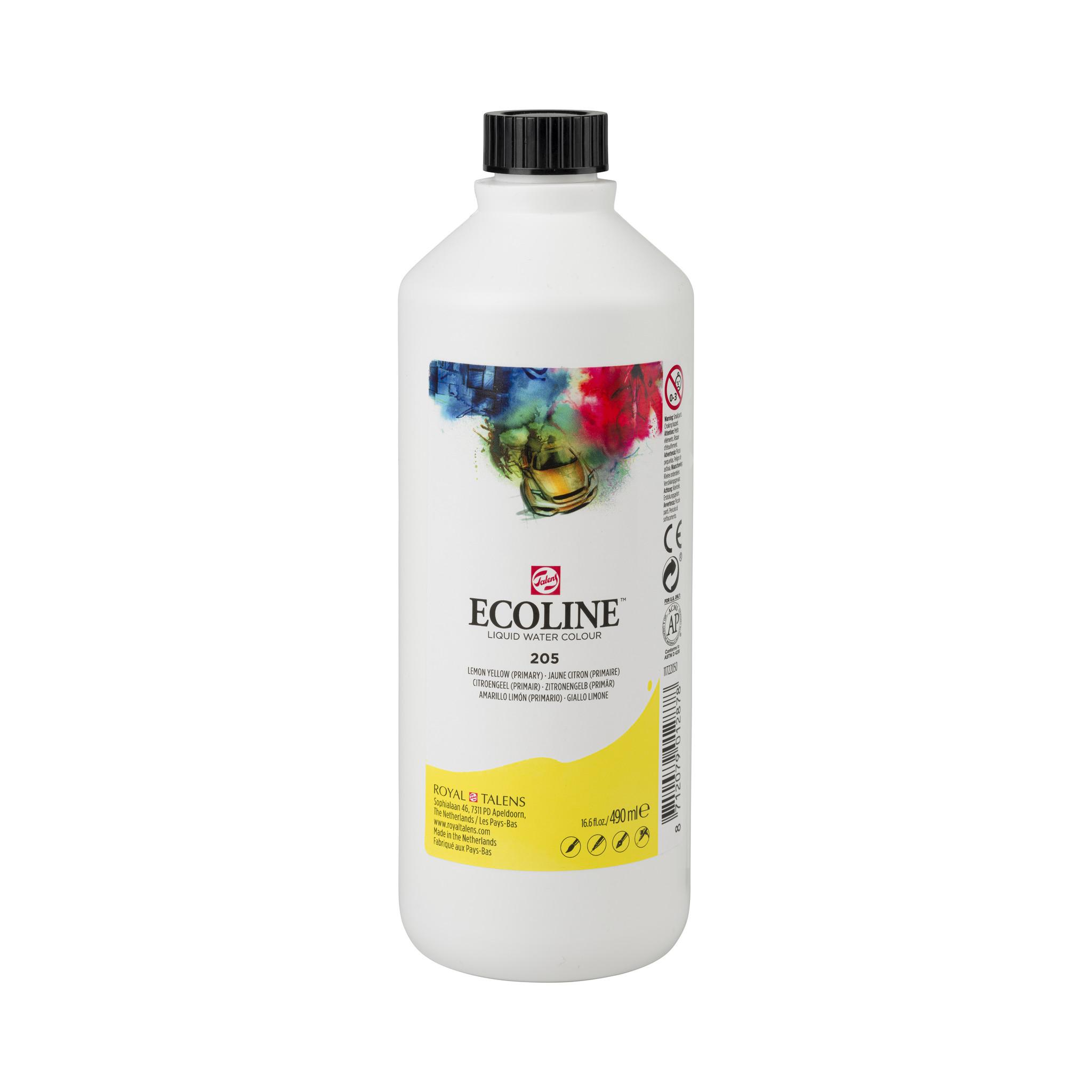 Ecoline Ecoline Flüssige Wasserfarbe 490 ml Zitronengelb