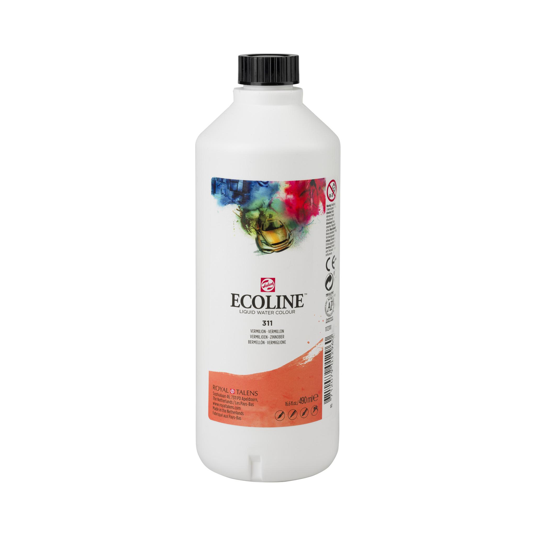 Ecoline Ecoline Flüssige Wasserfarbe 490 ml Zinnober