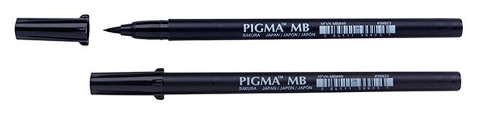 Pigma Pigma Brush Pen , Medium Brush Schwarz