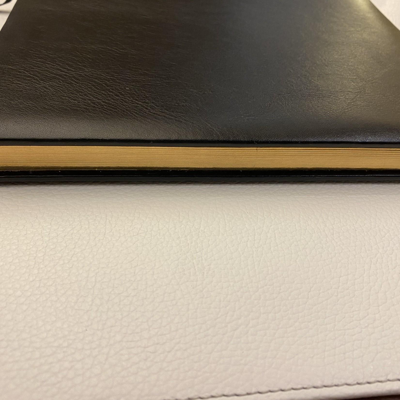 ASL - Akzente in Leder Kondolenzbuch, schwarzes Leder mit Goldschnitt
