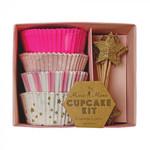 Meri Meri Pink Star Cupcake Kit