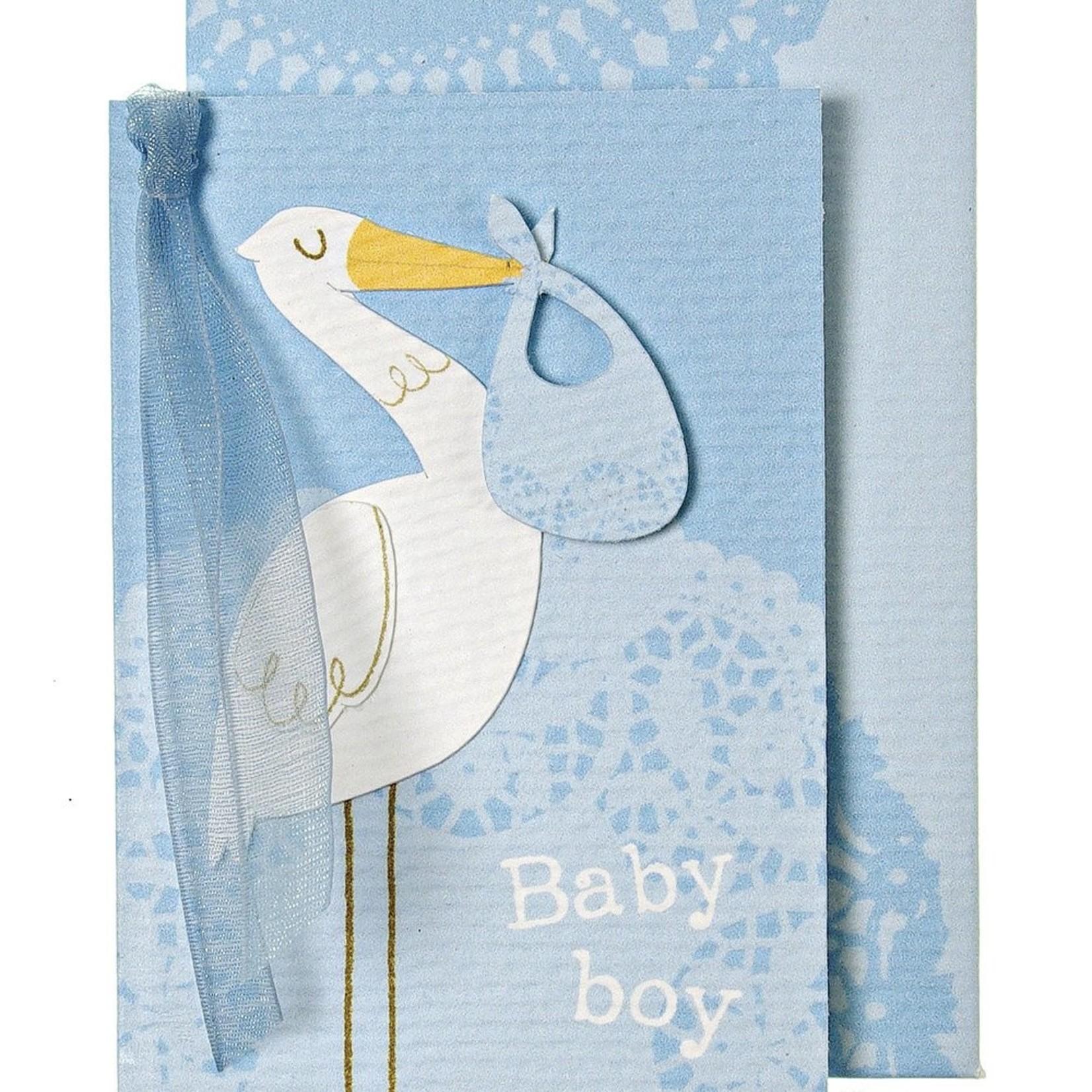 Meri Meri blue stork gift enclosure