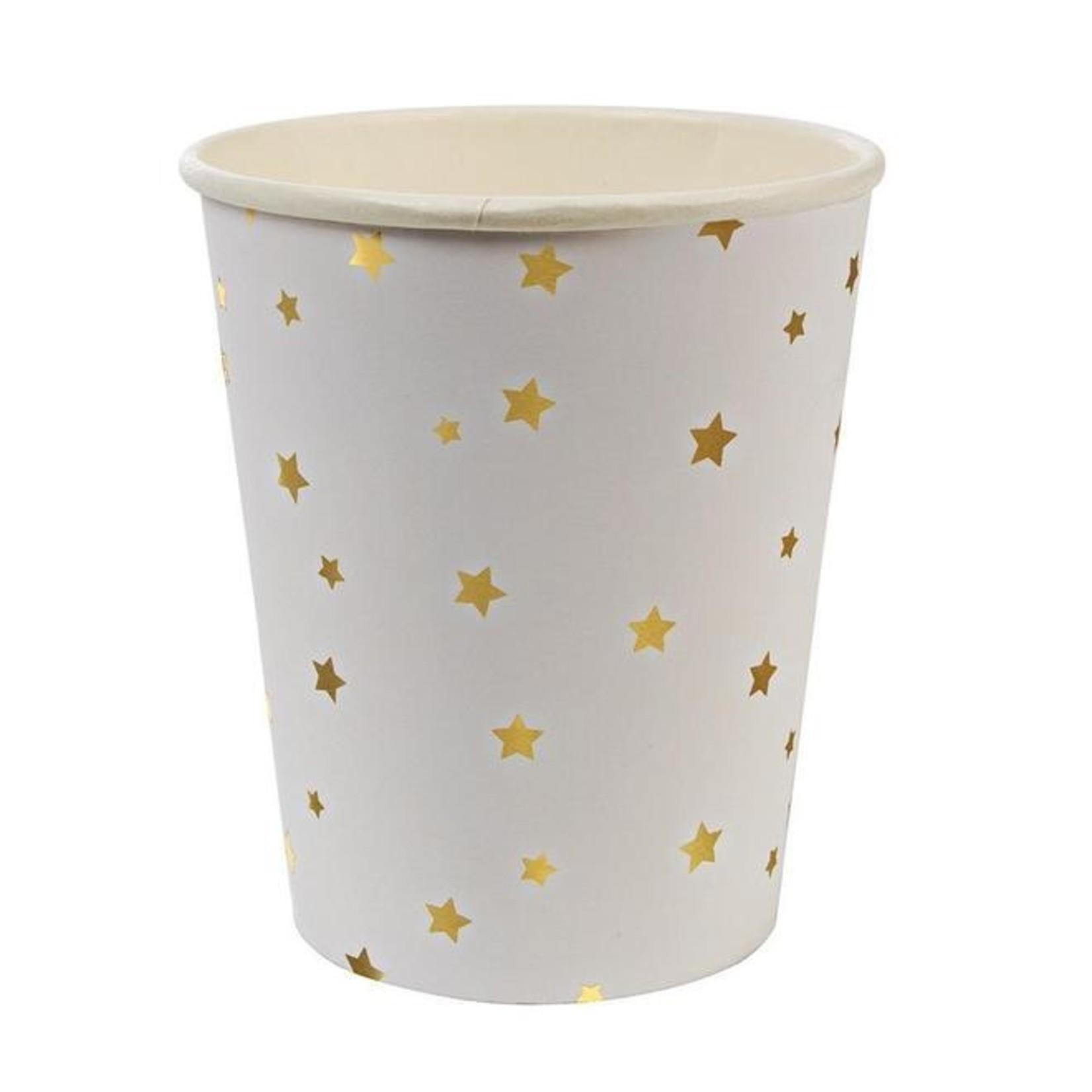 Meri Meri Gold Stars Party Cups