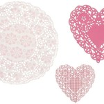 Talking Tables pink n mix Doily