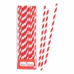 MIX & MATCH PAPER STRAWS RED