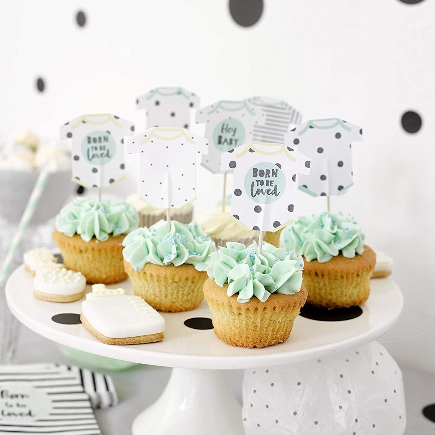Talking Tables BORN TO BE LOVED CAKE TOPPERS
