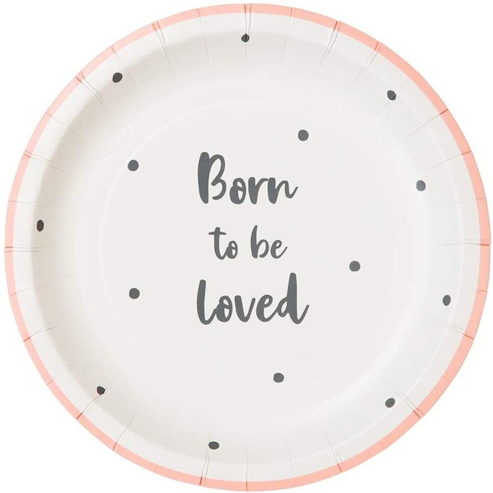 Talking Tables BORN TO BE LOVED  PLATES 12P