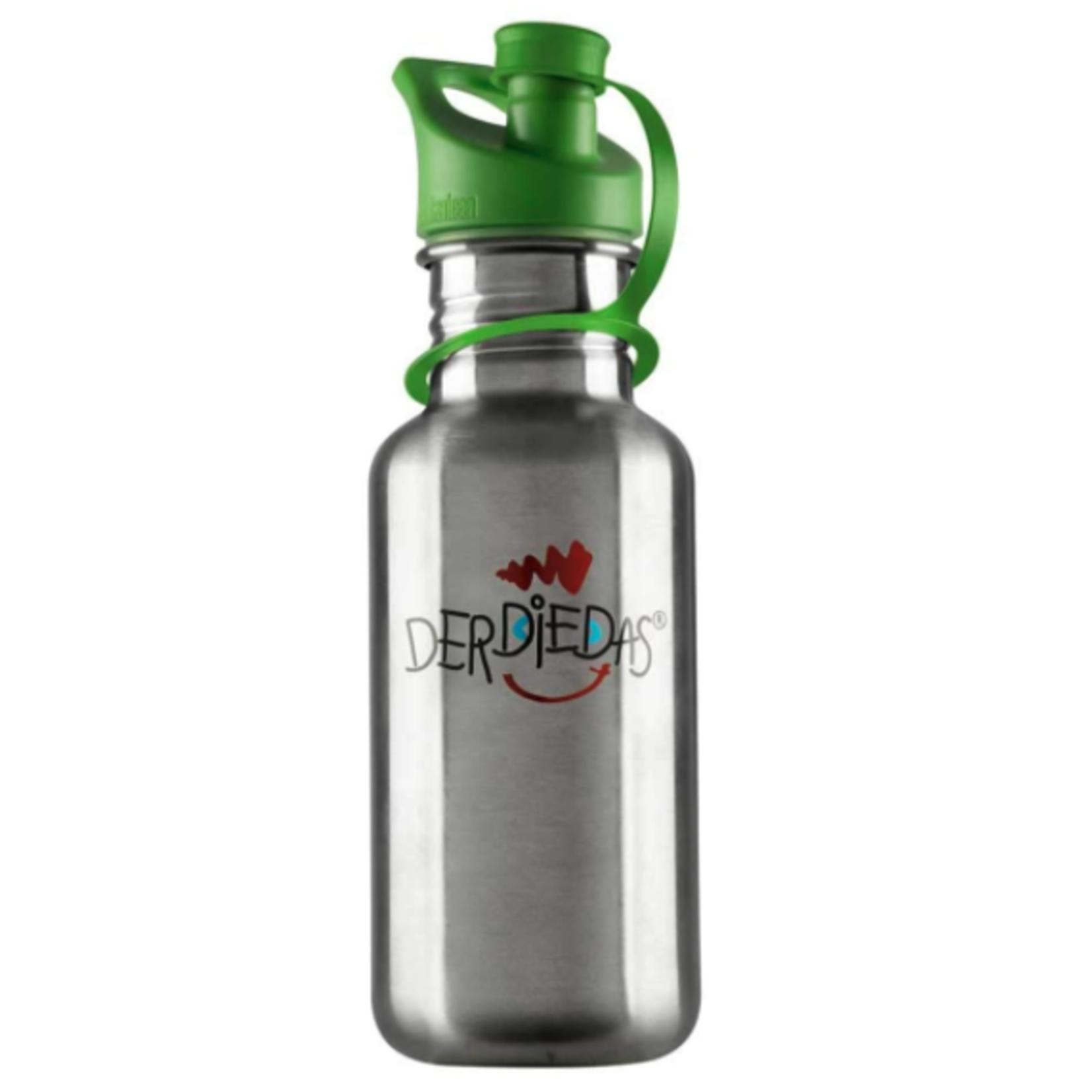 DerDieDas Trinkflasche | Edelstahl grün