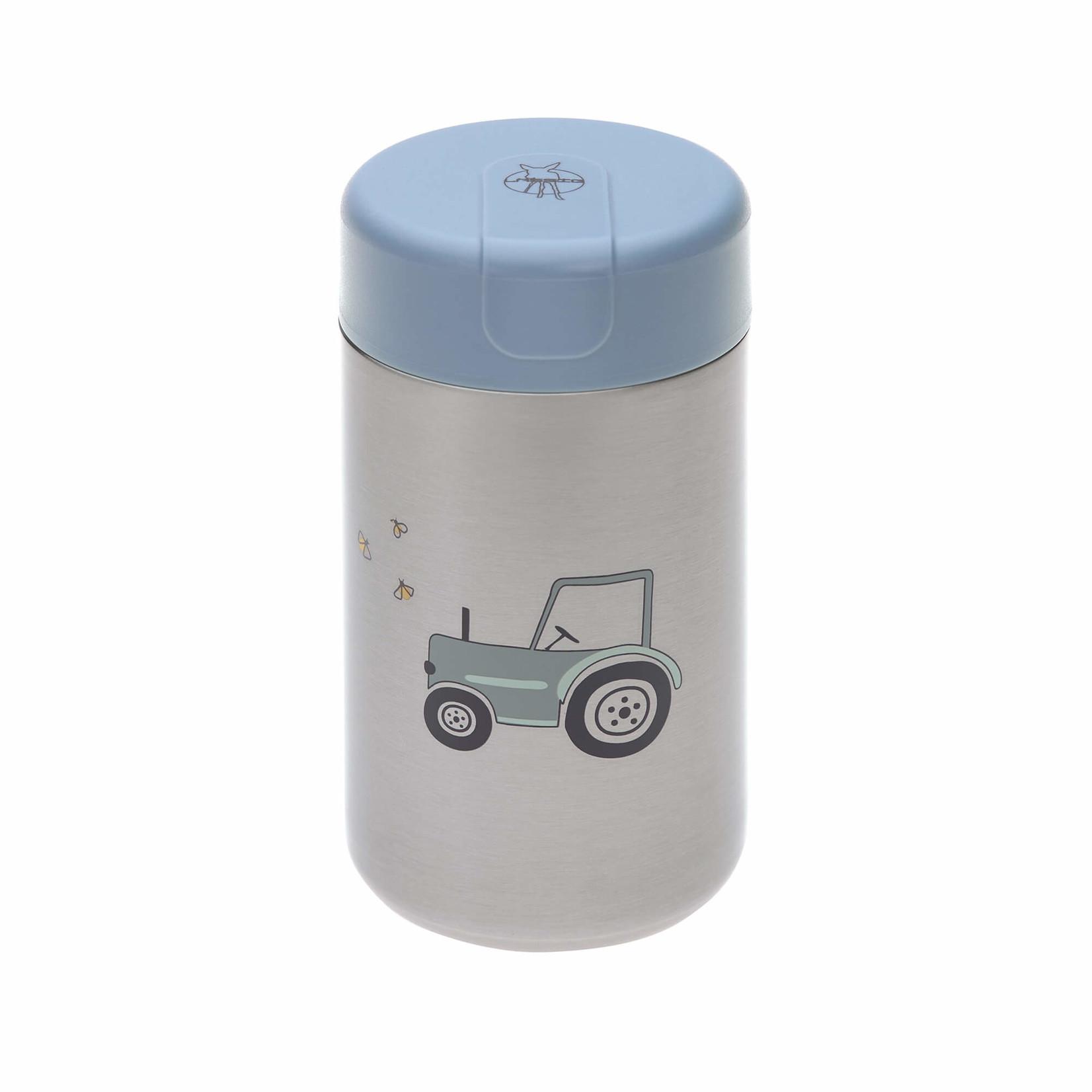 Lässig Fashion Edelstahl Essensbox für Babynahrung   480 ml   Abenteuertraktor
