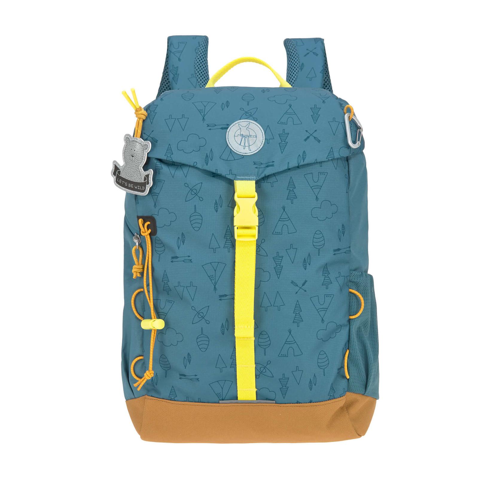 Lässig Fashion Lässig Outdoor-Kinderrucksack | 14 l | Blau, Braun, Gelb