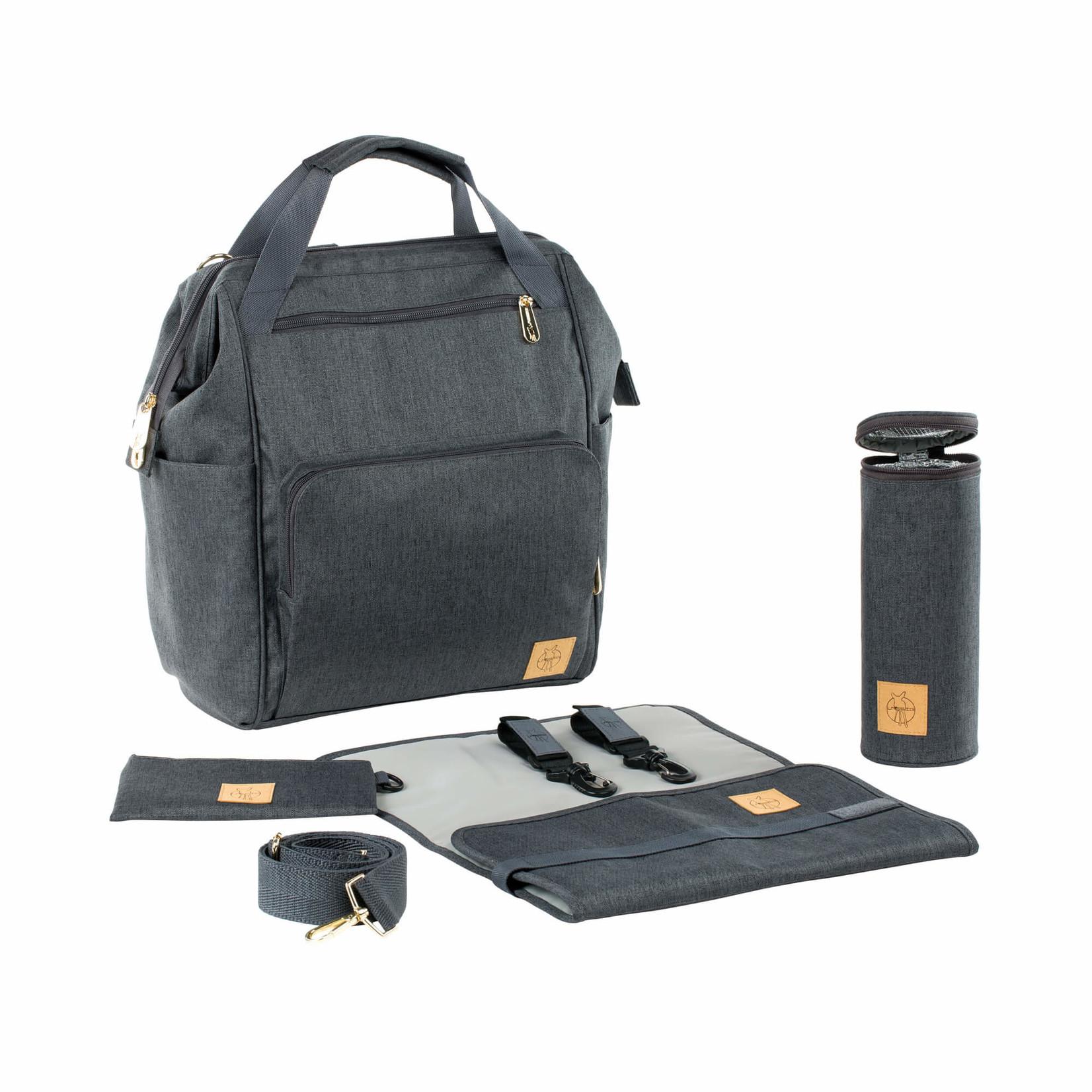 Lässig Fashion Praktischer Wickeltaschen-Rucksack in Anthrazit