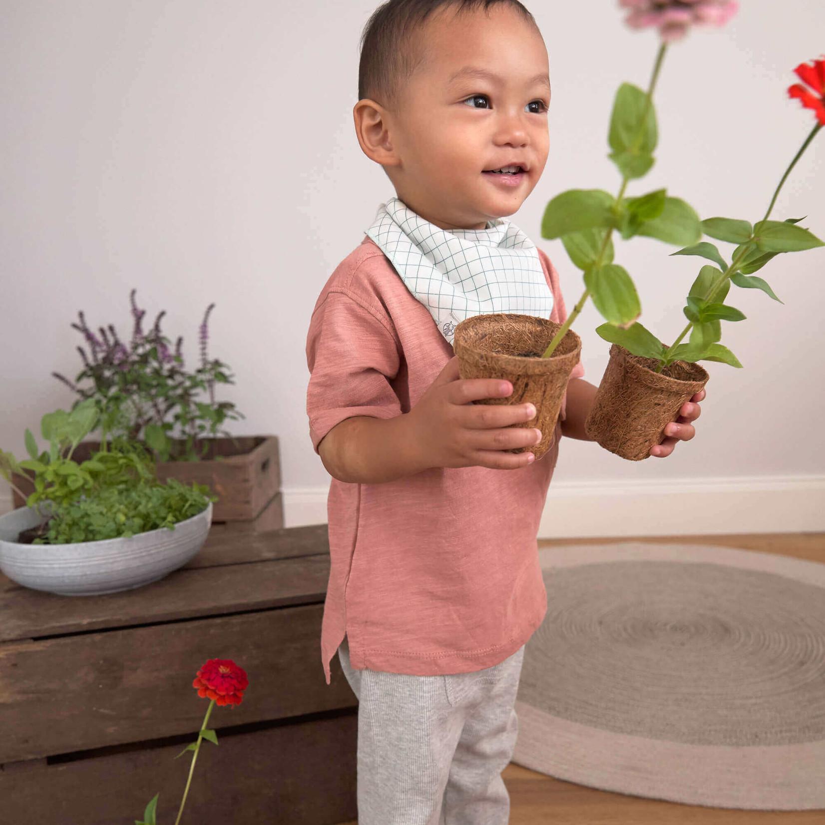 Lässig Fashion Süße Lätzchen mit Traktor-Motiv | 2 Stück | 100 % Baumwolle