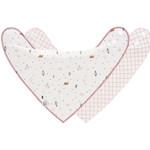 Lässig Fashion Süße Lätzchen mit Schnecken-Motiv | 2 Stück | 100 % Baumwolle
