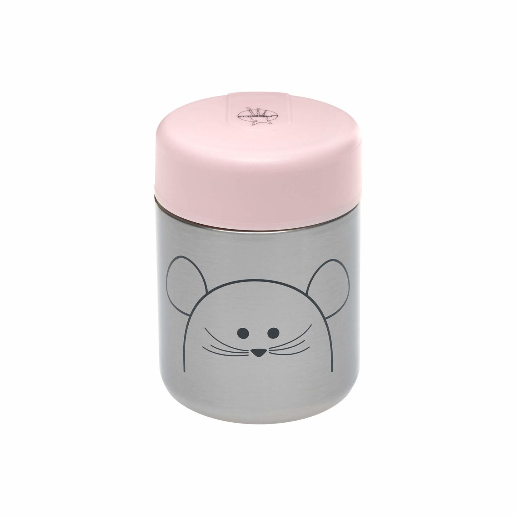 Lässig Fashion Essensglas aus Edelstahl für Babynahrung | Süße Maus