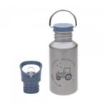 Lässig Fashion Praktische Trinkflasche aus Edelstahl | 500 ml | Traktor-Motiv