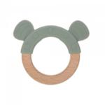 Lässig Fashion Baby-Beißring aus Holz & Silikon | kleine Katze