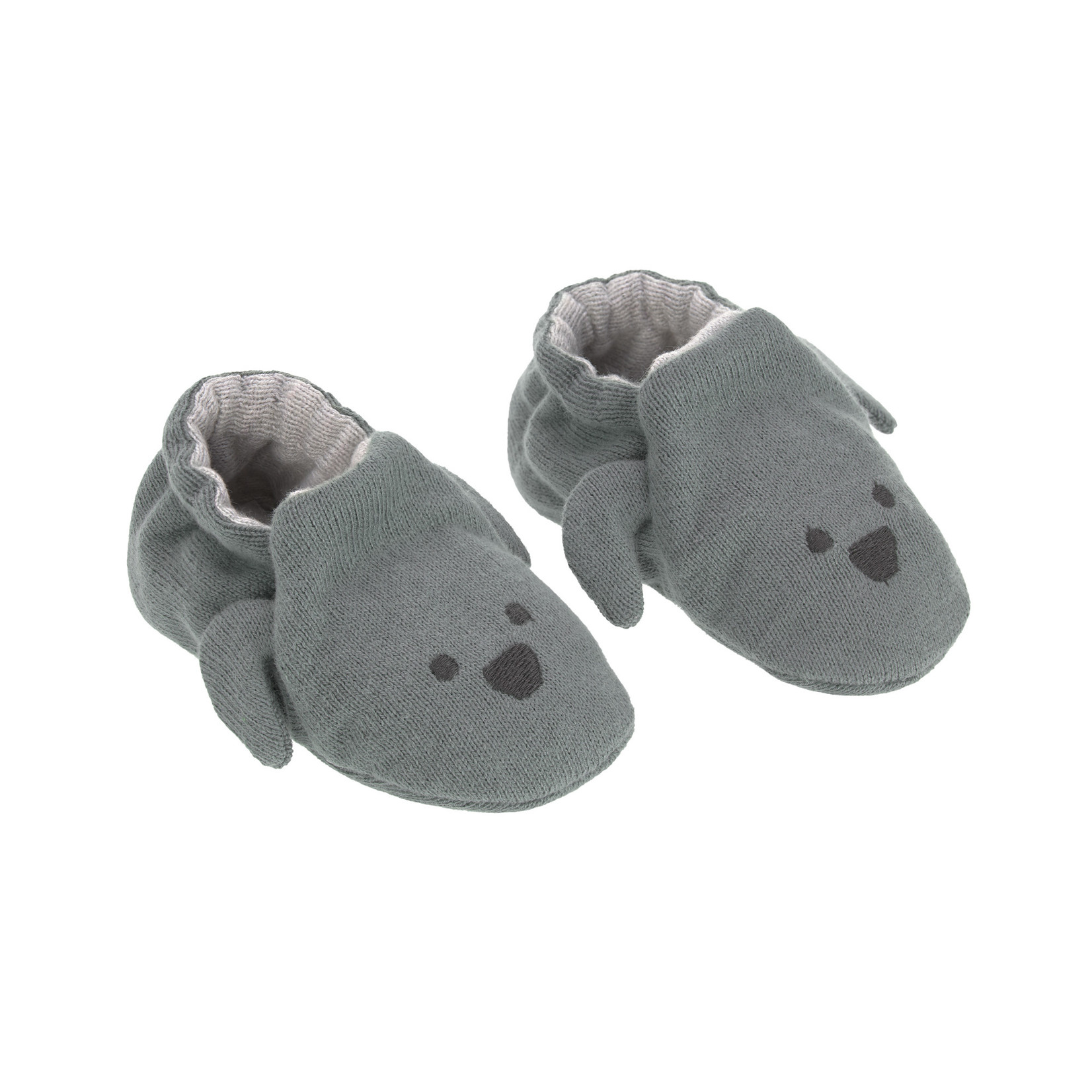 Lässig Fashion Bezaubernde Babyschuhe aus 100 % Bio-Baumwolle | Hündchen-Motiv