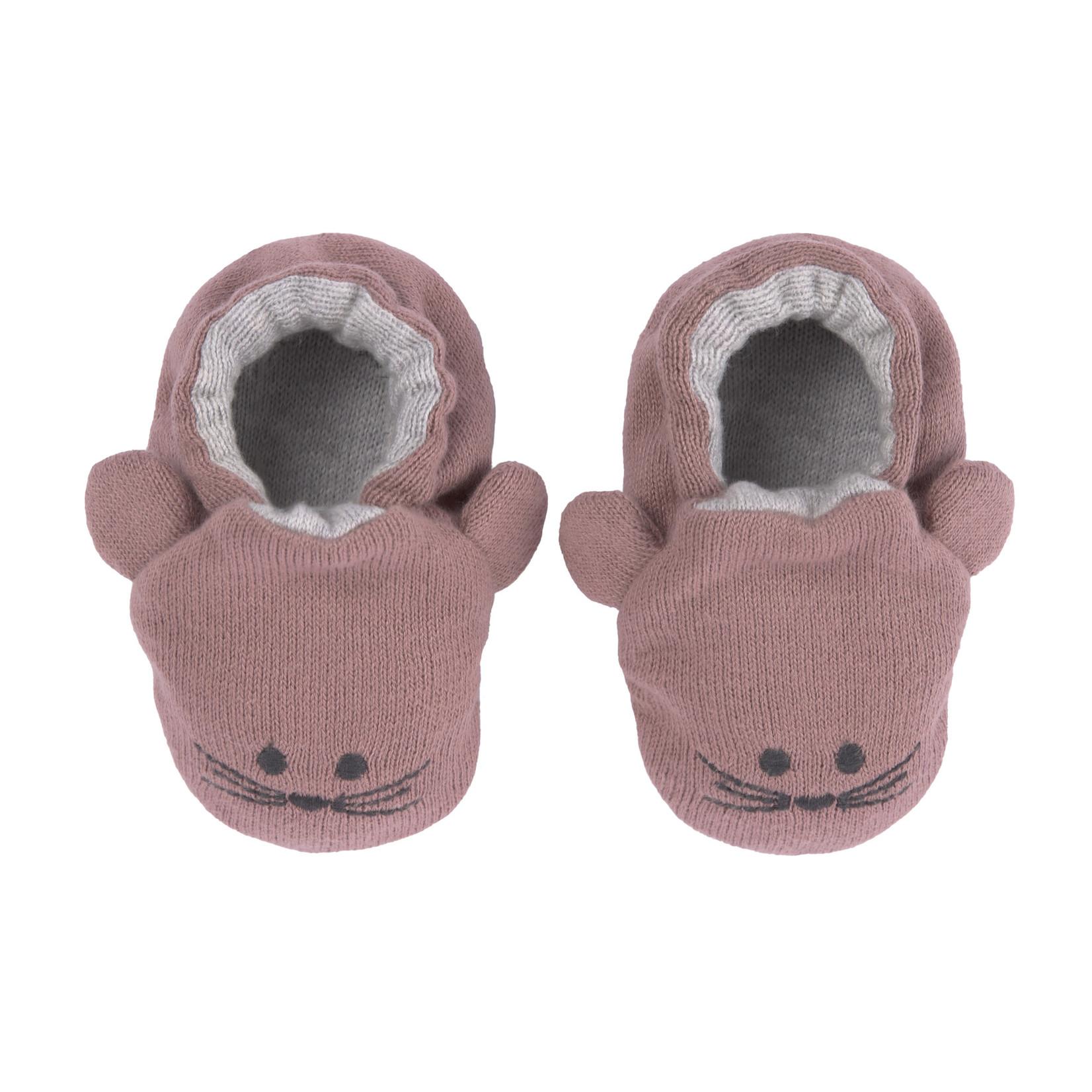Lässig Fashion Bezaubernde Babyschuhe aus 100 % Bio-Baumwolle | Maus-Motiv