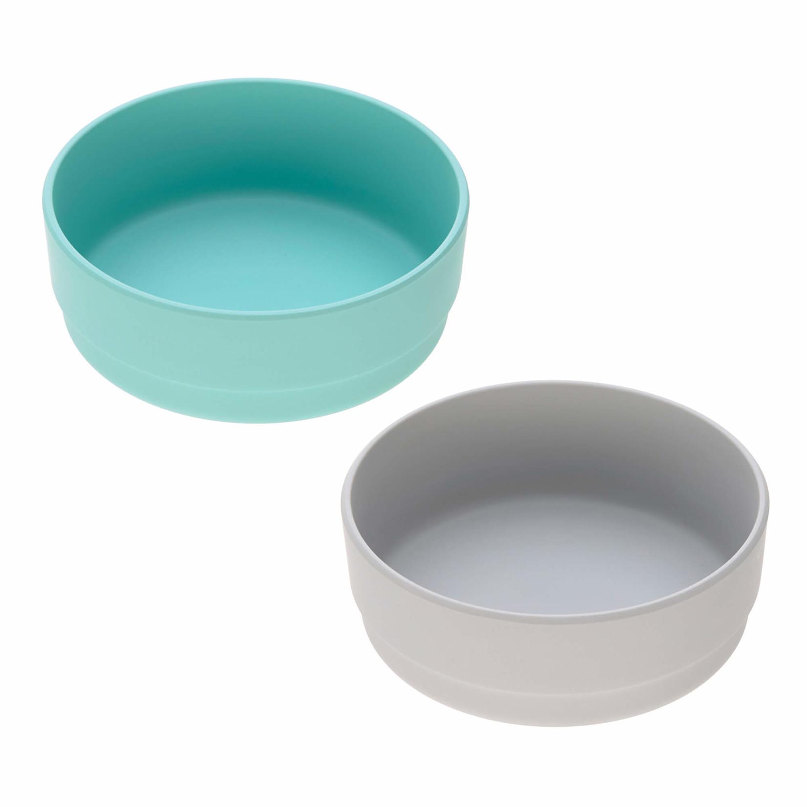 Lässig Fashion 2er Bowl Set | Türkis & Grau