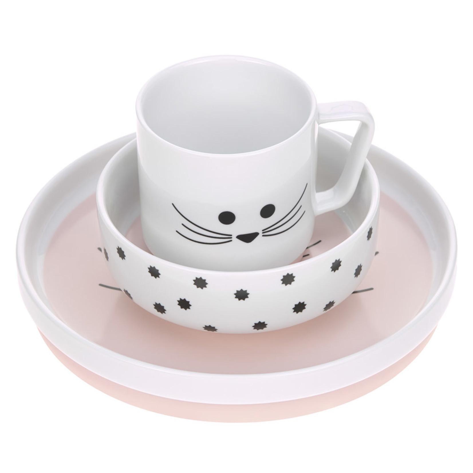 Lässig Fashion Lässig Kindergeschirr-Set aus Porzellan | 4-tlg. | Süße Maus