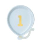 Talking Tables Bday plate in blue  Nr. 1   12er-Pack