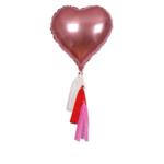 Meri Meri Heart Mylar Balloons S/6
