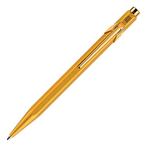 Caran d'Ache 849 Goldbar Kugelschreiber mit Etui, goldfarben