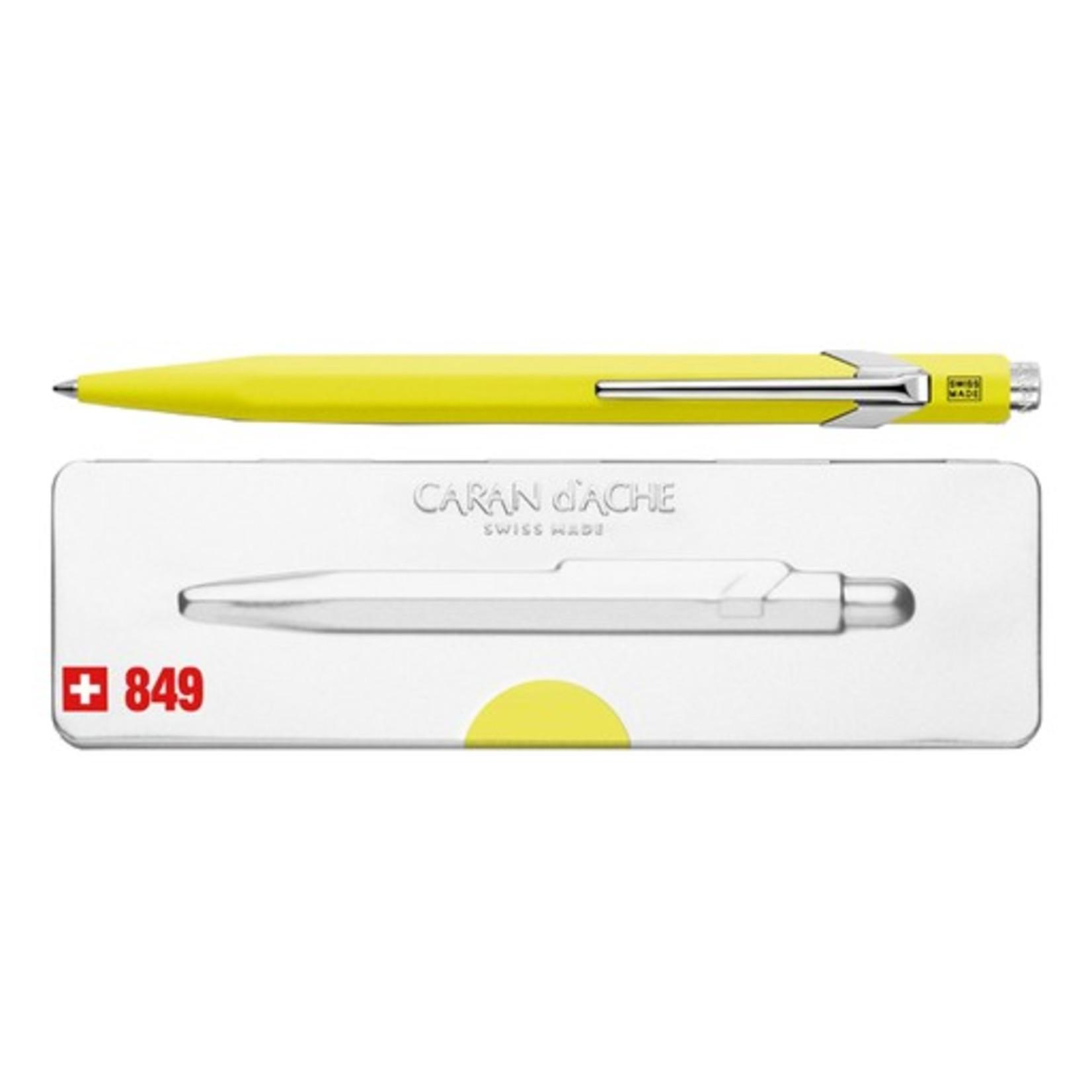 Caran d'Ache 849 Pop Line Kugelschreiber mit Etui, gelb