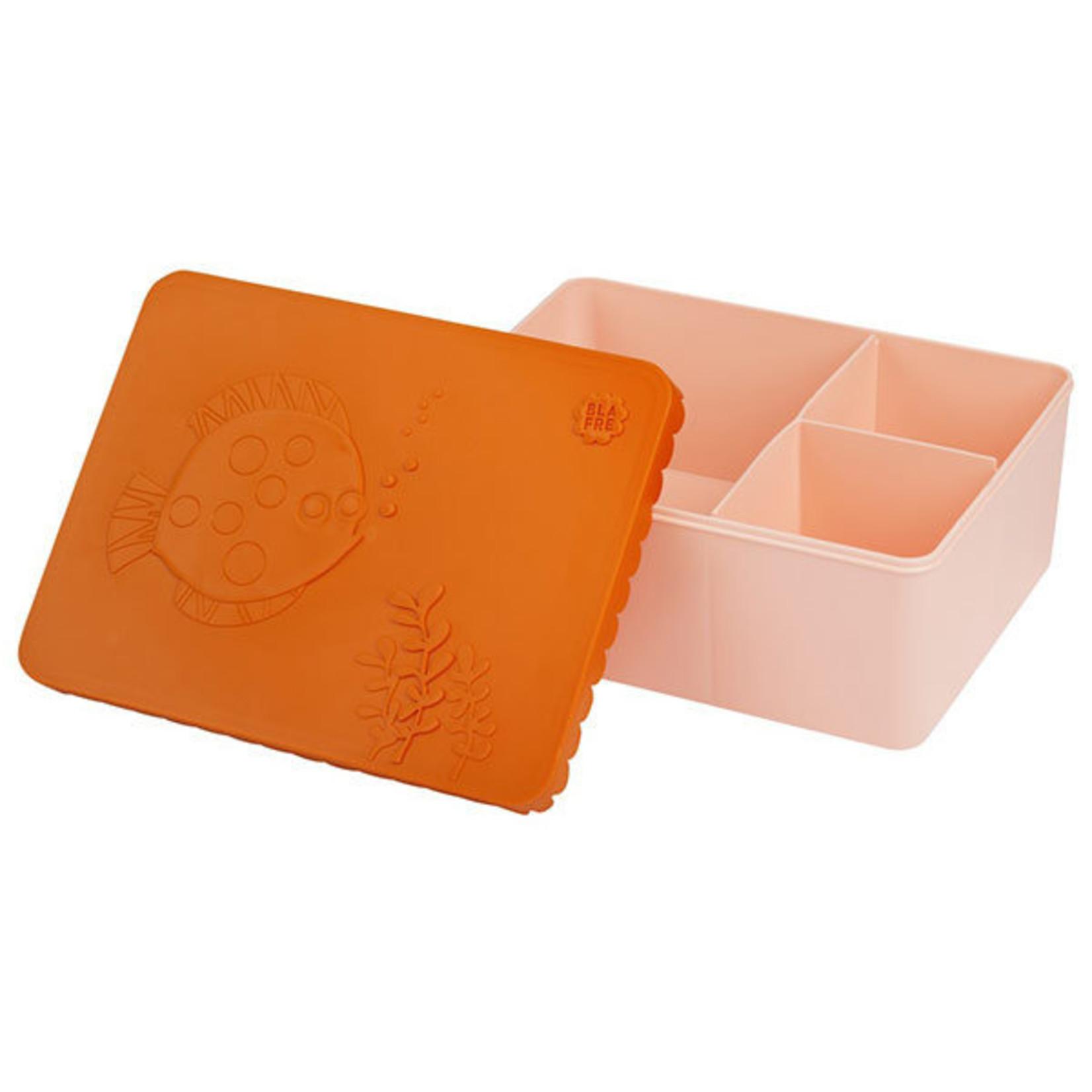 BLAFRE Bunte Brotdose von Blafre in orange und hellrosa