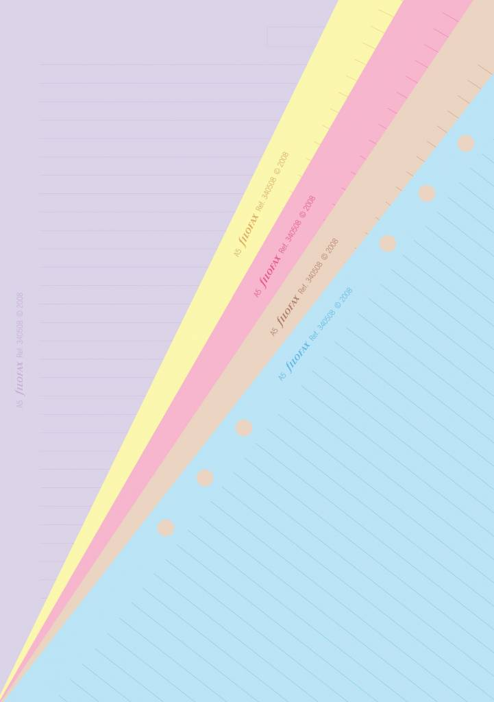 Filofax Filofax Einlage A5, Notizpapier, liniert, 30 Bl., mehrfarbig