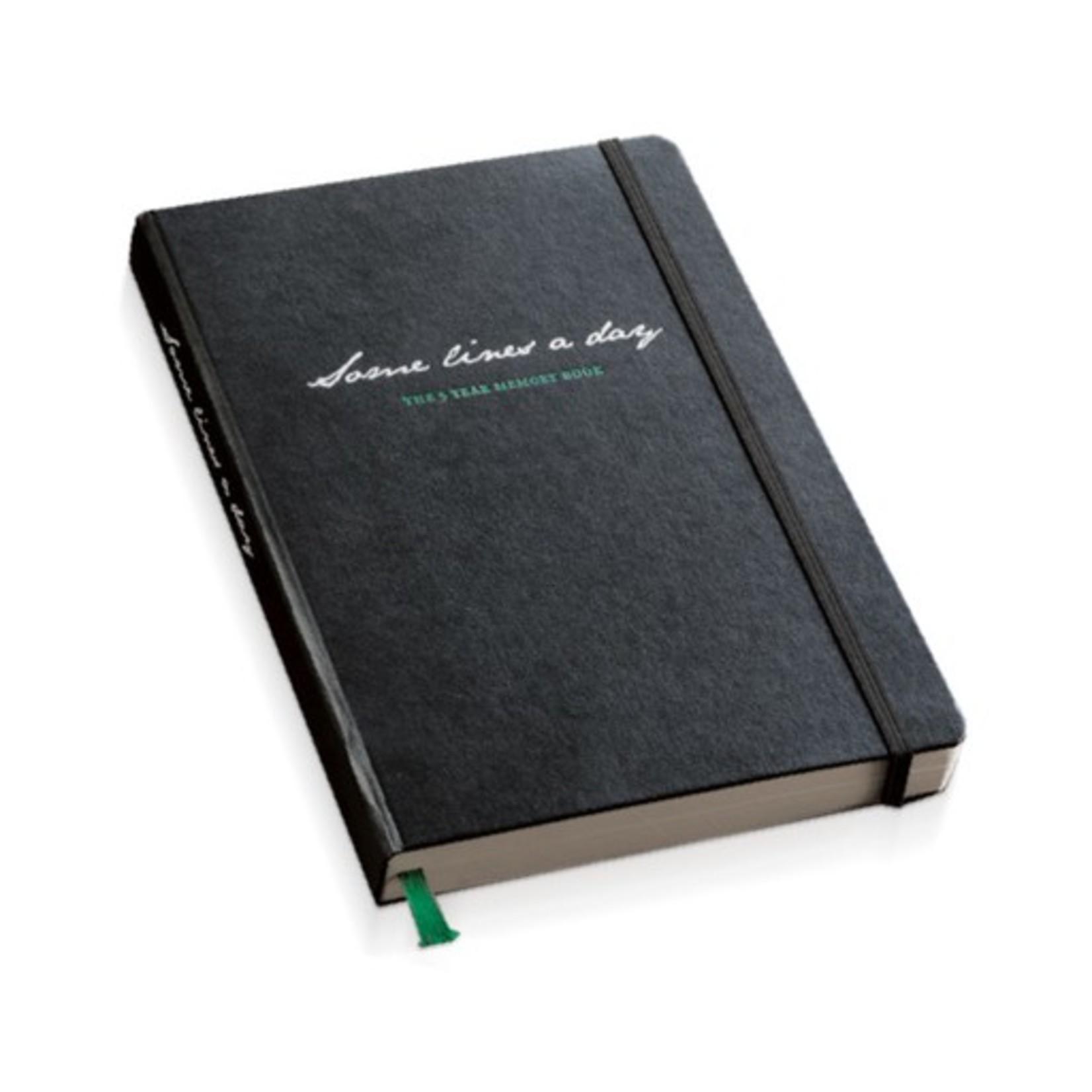 """Leuchtturm1917 Fünf Jahres Buch """"Some lines a day"""", DIN A5, schwarz"""