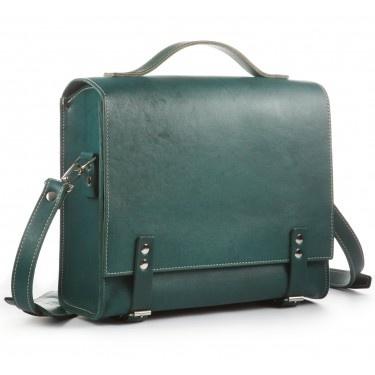 Kleine Lehrertasche, Bioleder grün