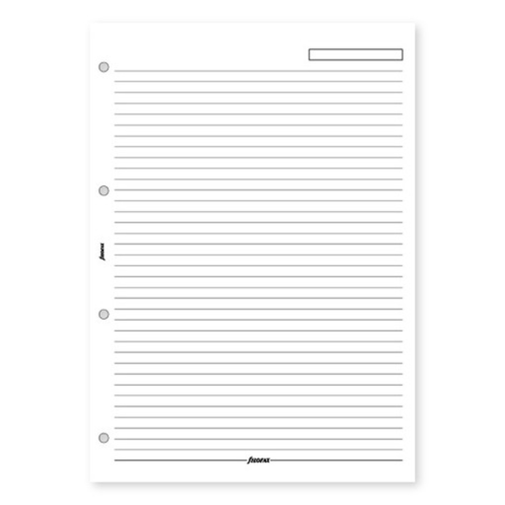 Filofax Filofax Einlage A4, Notizblätter, liniert weiß