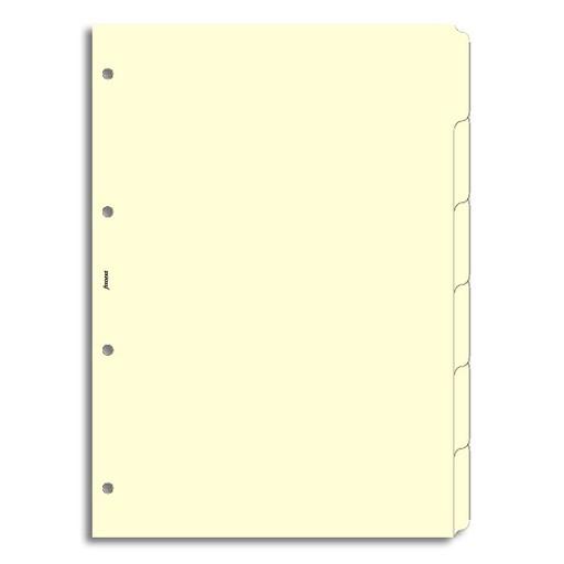 Filofax Filofax Einlage A4, Register 6-er blanko, cotton cream