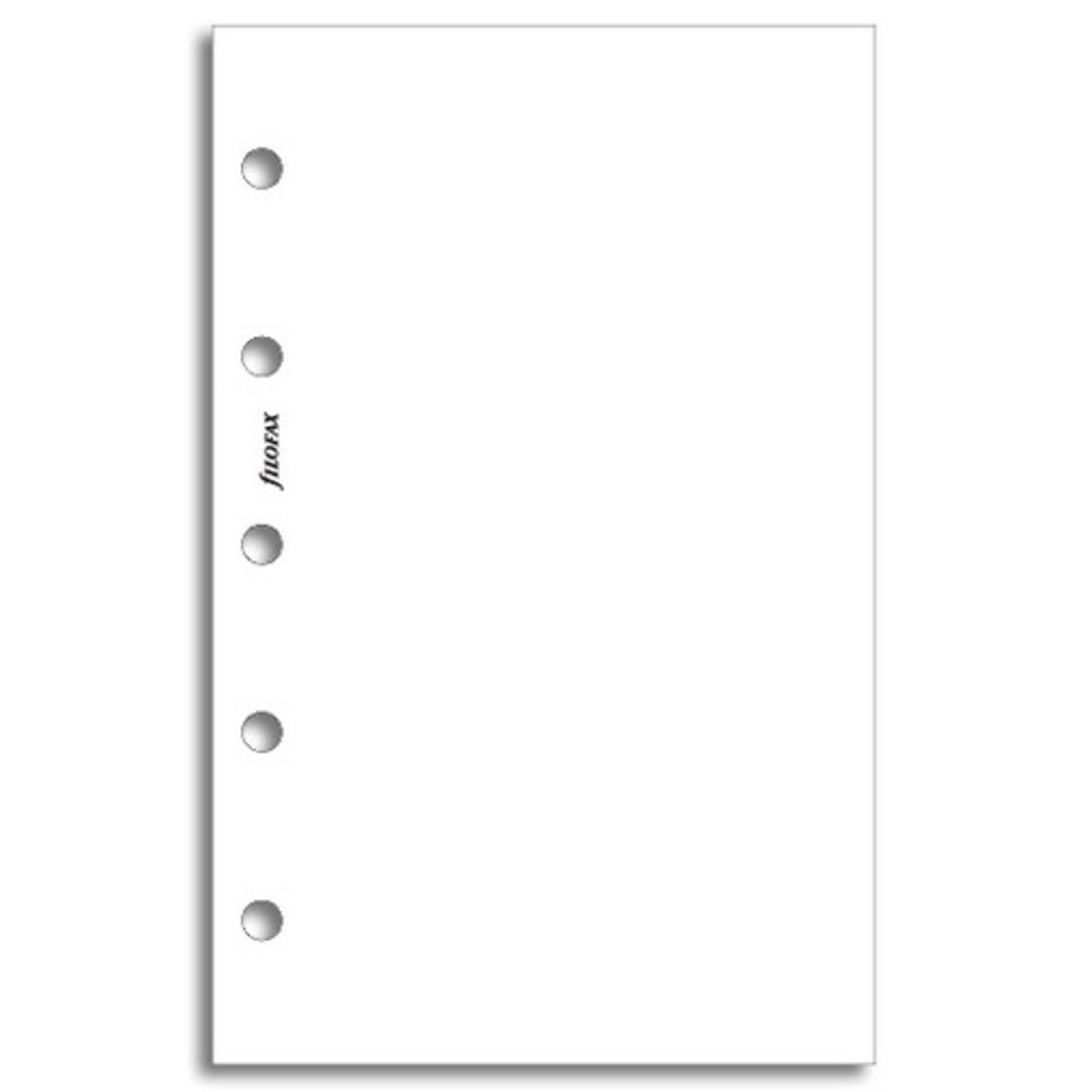 Filofax Filofax Einlage Mini, Papier glatt weiß