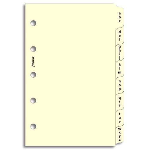 Filofax Filofax Einlage Mini, Register A-Z, 3 Buchst., cotton cream
