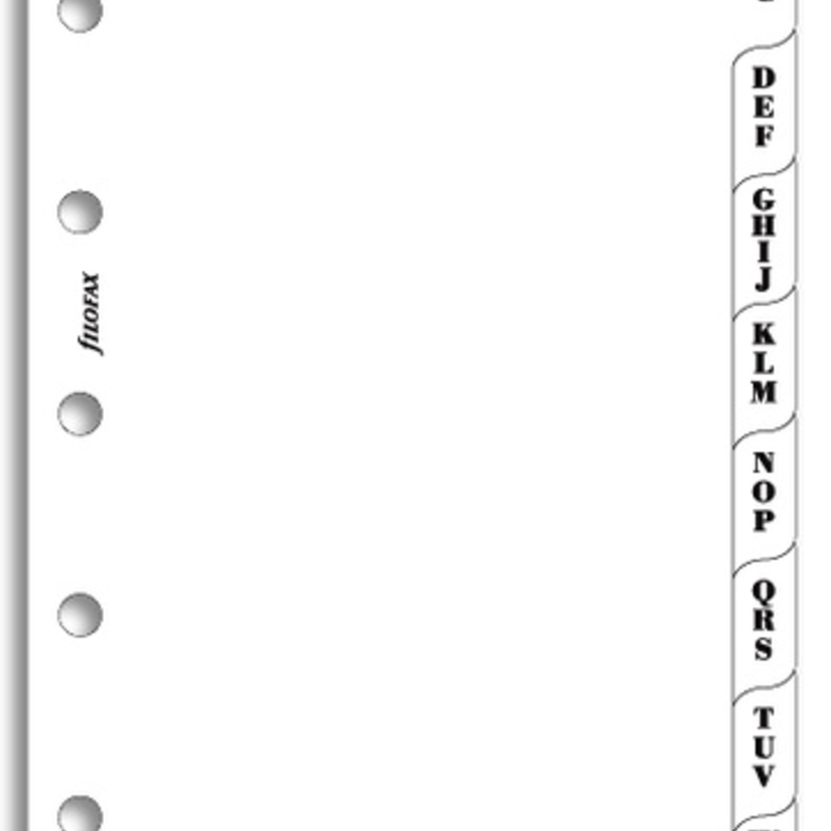 Filofax Filofax Einlage Mini, Register A-Z, 3 Buchst., weiß