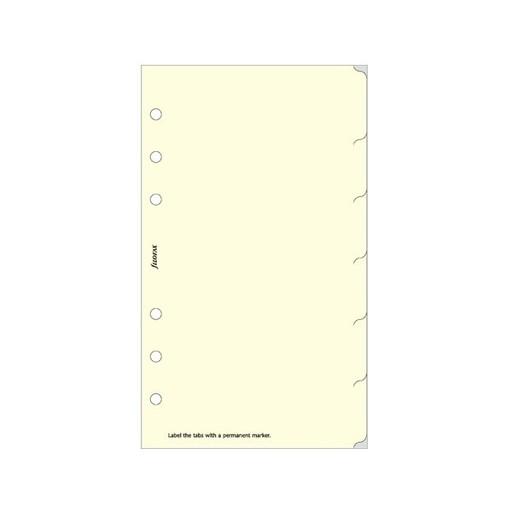 Filofax Filofax Einlage Personal, 6er-Register, englisch, cotton cream