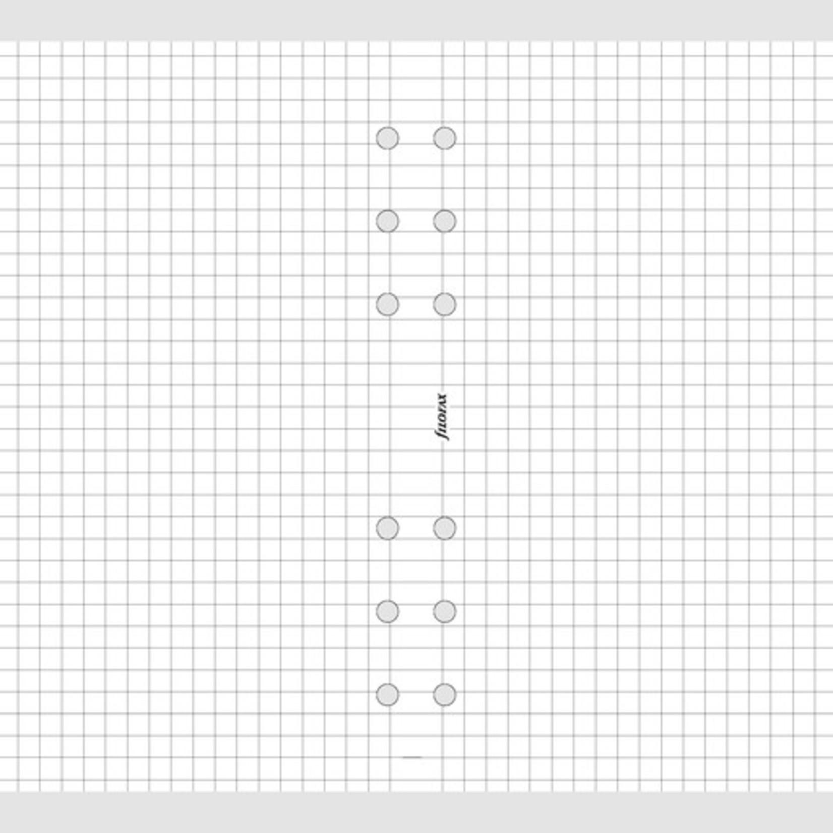 Filofax Filofax Einlage Personal, Papier kariert, 30 Bl., weiß