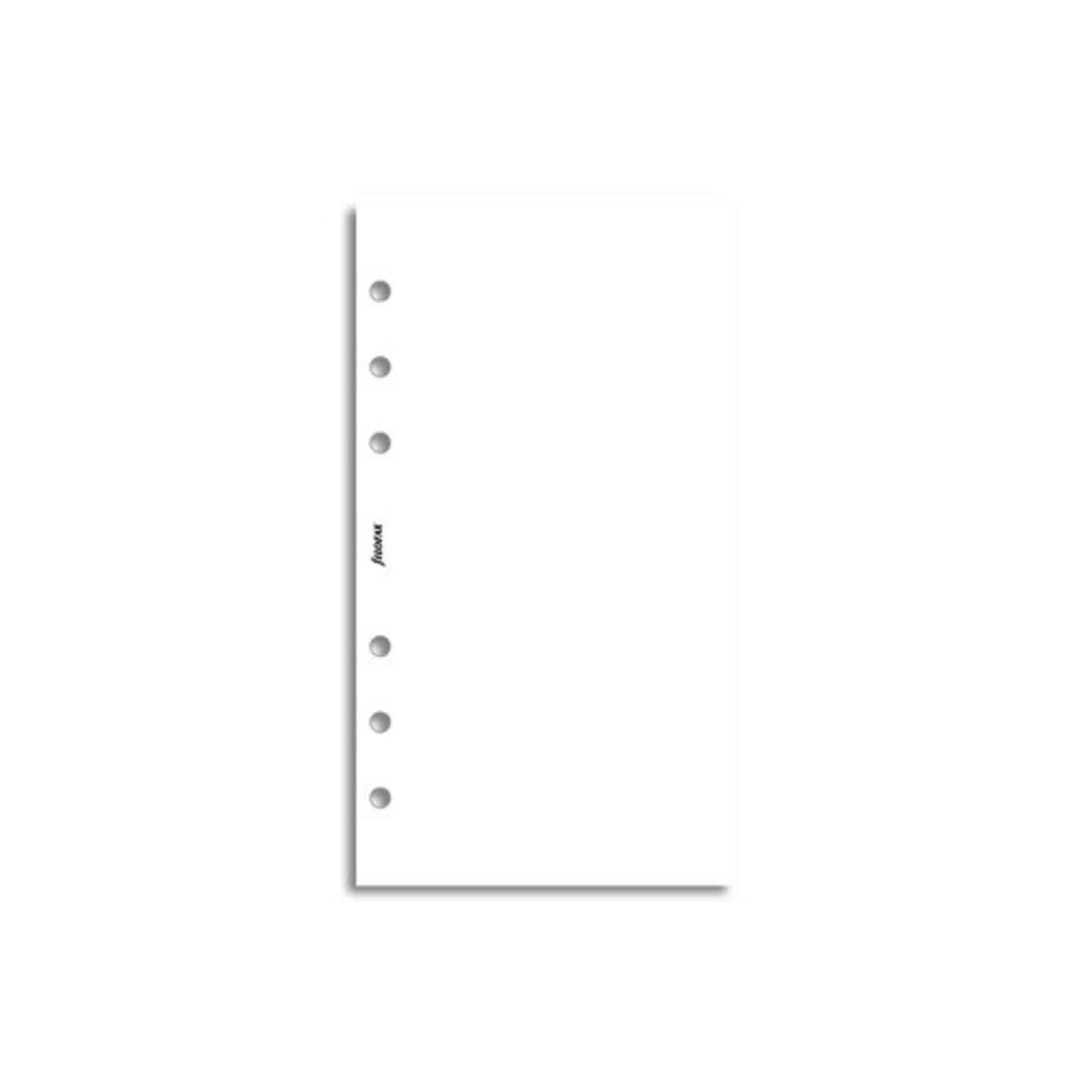 Filofax Filofax Einlage Personal, Papier liniert, 30 Bl., weiß